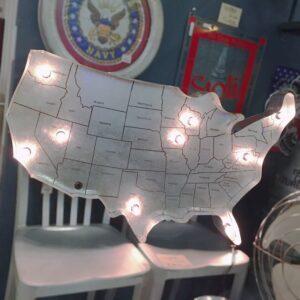 USA MAP LIGHT&CACTUS LIGHT